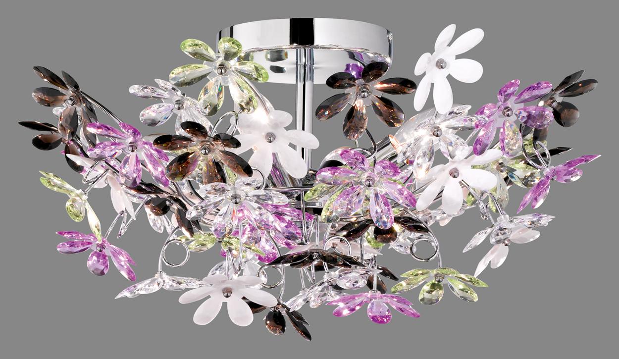 Trio flower kattovalaisin 4xe14 valotorni for Lampadario led leroy merlin
